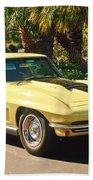 1967 Chevrolet Corvette Sport Coupe Beach Towel
