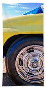 1967 Chevrolet Corvette Sport Coupe Rear Wheel Beach Towel