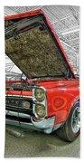1967 Pontiac Gto American Muscle Car Beach Towel