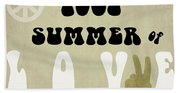 1967 Summer Of Love Newspaper Beach Towel