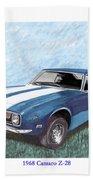 1968 Chevrolet Camaro Z 28 Beach Towel
