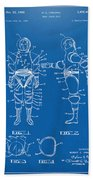 1968 Hard Space Suit Patent Artwork - Blueprint Beach Towel by Nikki Marie Smith