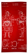 1968 Hard Space Suit Patent Artwork - Red Beach Towel