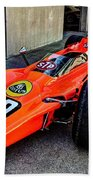 1968 Lotus 56 Turbine Indy Car #60 Angle Beach Towel