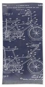 1968 Schwinn Stingray Patent In Blueprint Beach Towel