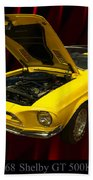 1968 Shelby Gt 500kr Beach Towel