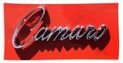 1969 Chevrolet Camaro Z-28 302 Emblem -0152c Beach Towel