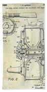 1969 Fly Reel Patent Beach Towel