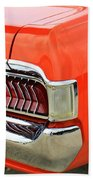 1969 Mercury Cougar Tail Light With Logos Beach Towel