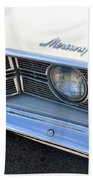 1969 Mercury Montego Mx Grille With Headlights And Logos Beach Towel