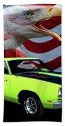 1969 Plymouth Road Runner Tribute Beach Towel by Peter Piatt