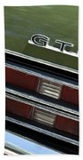 1969 Pontiac Gto Taillight Emblem Beach Towel