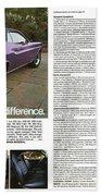 1970 Dodge Challenger Beach Towel