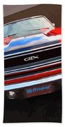 1970 Plymouth Gtx Vectorized Beach Towel