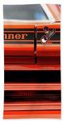 1970 Plymouth Road Runner - Vitamin C Orange Beach Towel by Gordon Dean II