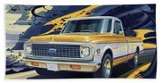 1971 Chevrolet C10 Cheyenne Fleetside 2wd Pickup Beach Towel