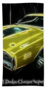 1971 Dodge Charger Superbee - Electric Beach Towel