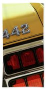 1972 Oldsmobile Cutlass 4-4-2 Beach Towel by Gordon Dean II