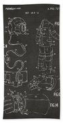 1973 Space Suit Elements Patent Artwork - Gray Beach Towel by Nikki Marie Smith