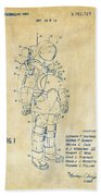 1973 Space Suit Patent Inventors Artwork - Vintage Beach Towel by Nikki Marie Smith