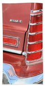1977 Lincoln Continental Mark V With Tail Lights And Logo Beach Towel