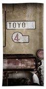 1978 Toyota Land Cruiser Fj40 Taillight Emblem -1191ac Beach Towel