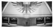 1979 Pontiac Trans Am Hood Firebird -0812bw Beach Towel