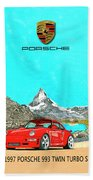 1997 Porsche 993 Twin Turbo R  Beach Towel