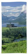 1m3001 Prince Of Wales From Afar Beach Towel