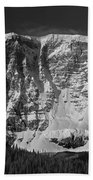 1m3769 Bw East Face Mt Kitchner Beach Towel