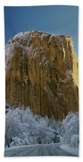 1m6576-winter On El Capitan In 1970 Beach Towel
