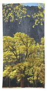 1m6610 Middle Cathedral Rock In Autumn Beach Towel