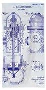 1903 Fire Hydrant Patent Beach Towel