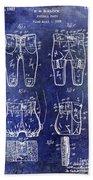 1927 Football Pants Patent Beach Towel
