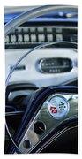 1958 Chevrolet Impala Steering Wheel Beach Towel