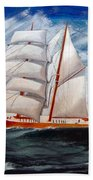 3 Master Tall Ship Beach Towel