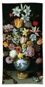 A Still Life Of Flowers Beach Towel