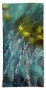 Abstract 92 Digital Oil Painting On Canvas Full Of Texture And Brig Beach Towel