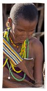 African Woman Beach Towel