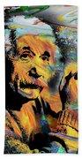 Albert Einstein.. - By Prar Beach Towel