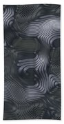 Alien Fluid Metal Beach Towel
