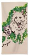 American Eskimo Dog Beach Towel