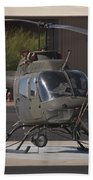 An Oh-58 Kiowa Helicopter Of The U.s Beach Towel