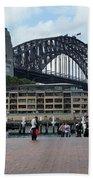 Australia - Sydney Harbour Bridge On Circular Quay Beach Towel