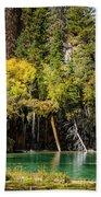 Autumn At Hanging Lake Waterfall - Glenwood Canyon Colorado Beach Towel