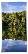 Autumn Sunrise Reflection Landscape Beach Towel