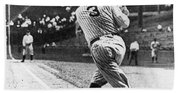 Babe Ruth Beach Towel