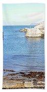 Ballintoy Harbour Beach Towel