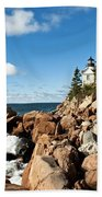Bass Harbor Light Beach Towel