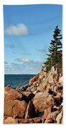Bass Harbor Lighthouse Beach Towel